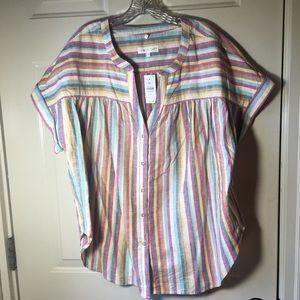 LOFT Lou Grey NWT ladies XL blouse